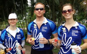 Christina, Dan, and Maren - fellow riders in Thailand